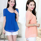 CHIC New Fashion Women's Loose Chiffon Tops Long Sleeve Shirt Casual Blouse