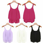 Sexy Women Summer Sleeveless Shirt Loose Casual  Vest Tank Top Blouse Tops