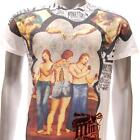m92 Minute Mirth T-shirt Sz L Tattoo Skull Classic Nude Sexy Lady Gift Heaven