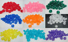 50 - 11mm Translucent Flower Pony Bead Made in USA - Color Choice