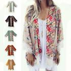 Women Fashion Printed Chiffon Shawl Kimono Cardigan gift Tops Cover Up Blouse