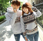 Couple Lovers Valentines Gift Deerlet Hooded Women Men's Hoodie Coat Jacket Top