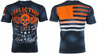 AFFLICTION Mens T-Shirt FADED IRON American Customs USA FLAG Biker UFC Jeans $58 image