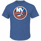 New York Islanders Vintage Logo Patch Mens Heather Blue Hockey T-Shirt M,L,XL,2X $26.95 USD on eBay