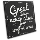 Motivation Quote Office Vintage SINGLE CANVAS WALL ART Picture Print