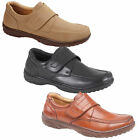 NEW MENS LEATHER CASUAL WEAR TOUCH FASTENING BOOTS SHOES VELCRO TRAINERS SIZE