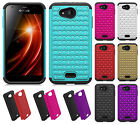 For Kyocera Hydro Air C6745 HYBRID IMPACT Dazzling Diamond Layered Case Cover