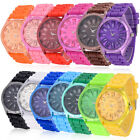 Unisex Men Women Hot Fashion Silicone Quartz Sport Geneva Jelly Wrist Watch