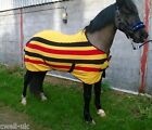 "CWELL EQUINE  HORSE COB PONY NEWMARKET STRIPE SHOW TRAVEL FLEECE RUG 5'3""- 7'0"""