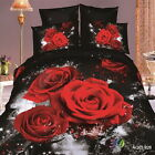 New Red Rose Cotton Duvet Covers King/Queen/Double Size Quilt/Doona Cover Set