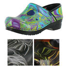 Sanita Hendrix Womens Patterned Leather Professional Clogs