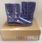 NIB Authentic UGG Australia Classic Short Sparkles Boots Night Blue Womens Sz 9