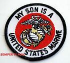 MY SON IS A US MARINE HAT PATCH US MARINES PROUD PARENT PIN UP MOM DAD MCRD GIFT