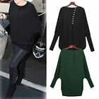 Womens Batwing Knitwear Sweater Blouse Ladies Long Jumper Pullover Baggy Tops