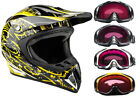 Snocross snowmobile helmets - Snowmobile Helmet Snocross Yellow Splatter With Breathbox And Goggles Adult DOT