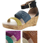 Restricted Brazil Women's Casual Wedge Comfort Sandals Shoes