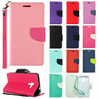 For Kyocera Hydro View Leather 2 Tone Wallet Case Pouch Flip Cover +Screen Guard