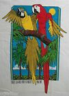 Adult FRUIT OF THE LOOM Bird MACAW Parrot White T-SHIRT 100% Preshrunk COTTON