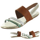 Restricted Kendra Women's Slide Studded Sandals Shoes
