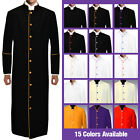 Clergy Preacher Robe w/ Colored Piping Full Length 15 Colors Available