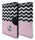Pink Anchor chevron Magnetic Leather Case+ Back Case Cover For Apple iPad 4/2/3