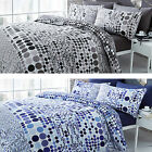 Catherine Lansfield Geo Spot Cotton Rich Duvet Quilt Cover Bedding Set