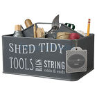BURGON & BALL SHED TIDY SLATE GREY -Tool Holder Shed Caddy Carrier Gardener Gift