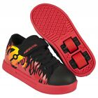 Heelys X2 Spiffy Boys Shoes - Black Red Flames - Roller Skating Shoes