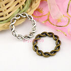 18Pcs Tibetan Silver,Antiqued Bronze Twist Circle Rings 20.5mm M1653