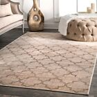 nuLOOM Beaumont Trellis Contemporary Vintage Viscose Ivory Area Rug
