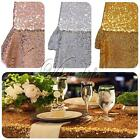 "Gold/Silver/Champagne Sequin Tablecloth Sparkly Bling Wedding Decor 40"" x 60"""