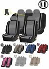 9pc SUV Mesh Combo Front Seat & Back row Split Bench Steering Covers