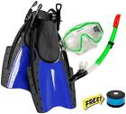 Typhoon Sports Adult Snorkel Combo - Snorkel, Fins and Mask