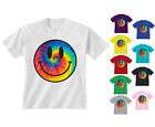 Kids Childrens Tie Dye Smiley Face Acid Rave T-shirt 5-13 Years