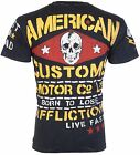 AFFLICTION Mens T-Shirt MOTOR CO American Customs Motorcycle Biker UFC Jeans $58 image