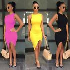 Women Casual Sleeveless Evening Party Cocktail Short Mini Dress 6 Colors KZ