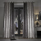Kylie Minogue Natala Slate Grey Silver Lined Eyelet Ring Top Ready Made Curtains