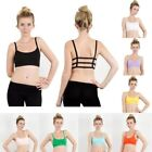 Women Seamless Racerback Bralette Sports Bra Yoga Fitness Padded Top Tank