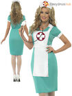 Ladies Scrub Nurse Costume Adult Sexy Doctor Fancy Dress Hen Party Outfit 8 - 22