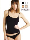 4 Pack Women's Cotton Camisole Spaghetti Strap Cami Tank Top Assorted Colors SML