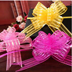 10Pcs 50mm Organza Ribbon Pull Bows Wedding Car Decor Gift Wrap Colourful