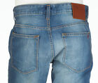 TRUE RELIGION Mens Slim Straight Denim Jeans MID BLUE Embroidered $295 NWT