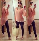 Women's Lady Loose Long Sleeve Chiffon Casual Blouse Shirt Tops Blouse Fashion