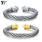 Quality TT Silver 8mm 316L Stainless Steel Cuff Bangle (BS68) NEW Arrival