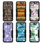 For LG K10 NATURAL TUFF Hybrid Rubber Hard Snap-on Case Black Black 5Colors