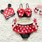 Baby Girls Kids Bikini Set Swimwear Swimsuit Polka Dot 2/3Pcs Skirt Bathing Suit