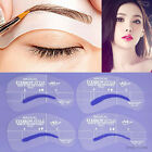 4X Grooming Shaping Assistant Template Eyebrow Drawing Card Brow Make-Up Stencil