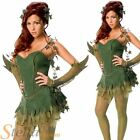 Ladies Poison Ivy Costume Sexy Superhero Batman Halloween Fancy Dress Outfit