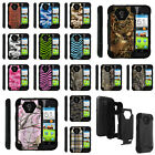 For ZTE Allstar LTE Hybrid Dual Shock Defender Case Camo Skin Hunter Armor