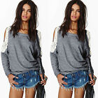 New Fashion Women's Loose Long Sleeve Cocktial Casual Blouse Shirt Tops Blouse